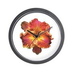 Coral Red Daylily Wall Clock