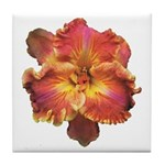 Coral Red Daylily Tile Coaster