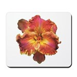 Coral Red Daylily Mousepad