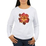 Coral Red Daylily Women's Long Sleeve T-Shirt