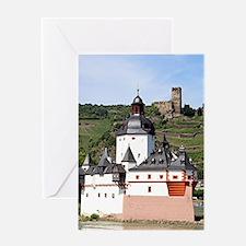 Pfalzgrafenstein Castle, Rhine Rive Greeting Cards