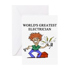electrician gifts t-shirts Greeting Card