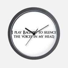 I play Bagpipes to silence th Wall Clock