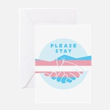 Please Stay Trans Greeting Cards
