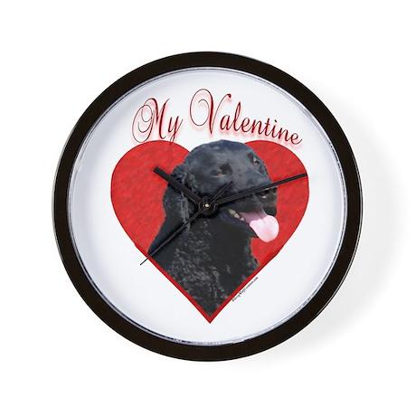 Curly Coat Valentine Wall Clock