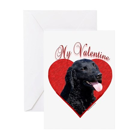 Curly Coat Valentine Greeting Card