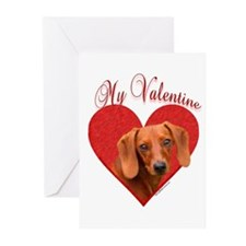 Dachshund Valentine Greeting Cards (Pk of 10)