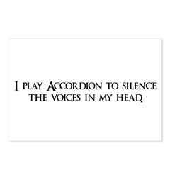 I play Accordion to silence t Postcards (Package o