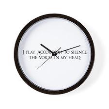 I play Accordion to silence t Wall Clock