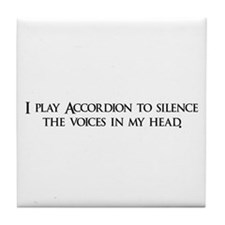 I play Accordion to silence t Tile Coaster