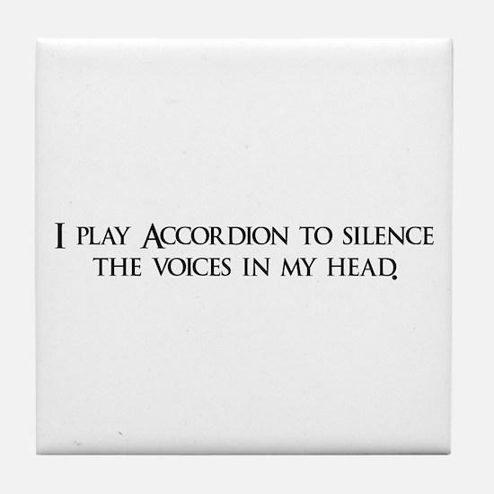 I play Accordion to silence t Tile Coaster
