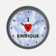I Love Enrique (Black) Valentine Wall Clock