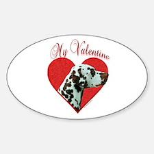 Dal(liver) Valentine Oval Decal