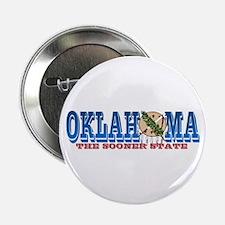 "Unique Oklahoma sooners 2.25"" Button"