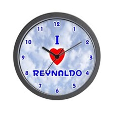 I Love Reynaldo (Blue) Valentine Wall Clock