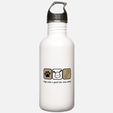 Dogs Make a Good Life Water Bottle