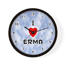 I Love Erma (Black) Valentine Wall Clock