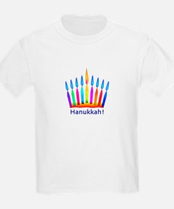 NEON Hanukkah Menorah Bedding T-Shirt