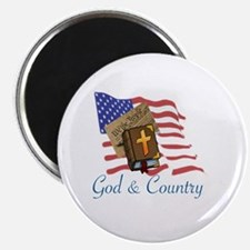 Unique God and country Magnet