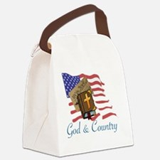Unique God and country Canvas Lunch Bag