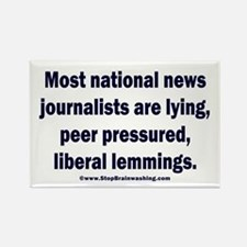 Scum Journalists Rectangle Magnet
