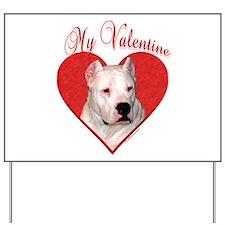 Dogo Valentine Yard Sign