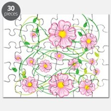Pink Flowers Puzzle