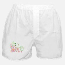 Pink Flowers Boxer Shorts