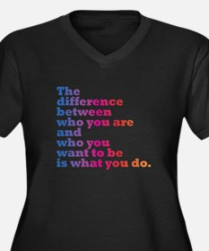 The Difference (blue/pink) Plus Size T-Shirt