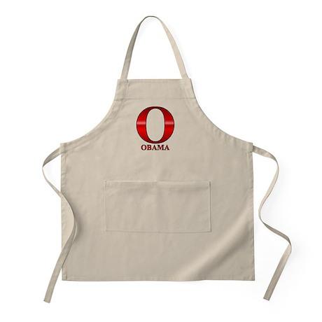 Red O for Barack Obama BBQ Apron