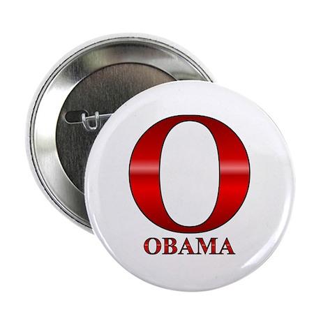 "Red O for Barack Obama 2.25"" Button"