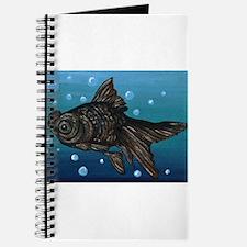 Black Moor Gold Fish Art Journal