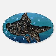 Black Moor Gold Fish Art Decal