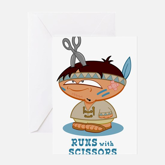 Runs with Scissors Greeting Cards