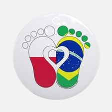 Polish Brazilian Baby Round Ornament