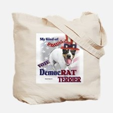 DemocRAT TERRIER Tote Bag