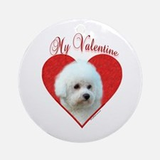 Bichon Valentine Ornament (Round)