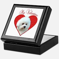 Bichon Valentine Keepsake Box