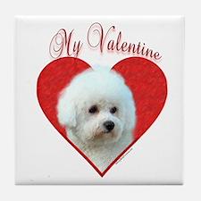 Bichon Valentine Tile Coaster