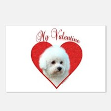 Bichon Valentine Postcards (Package of 8)