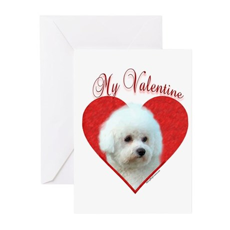 Bichon Valentine Greeting Cards (Pk of 20)