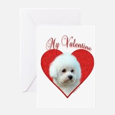 Bichon Valentine Greeting Card