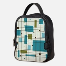 Hep Cat (teal) Neoprene Lunch Bag