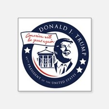 """Trump 45th President Square Sticker 3"""" x 3"""""""