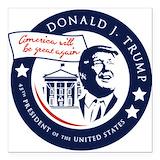 Donald trump 45 Square Car Magnets