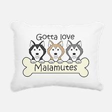 Cute Alaskan malamute Rectangular Canvas Pillow