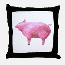 Pig Impressionistic Throw Pillow