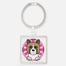 Cool Akita lover Square Keychain