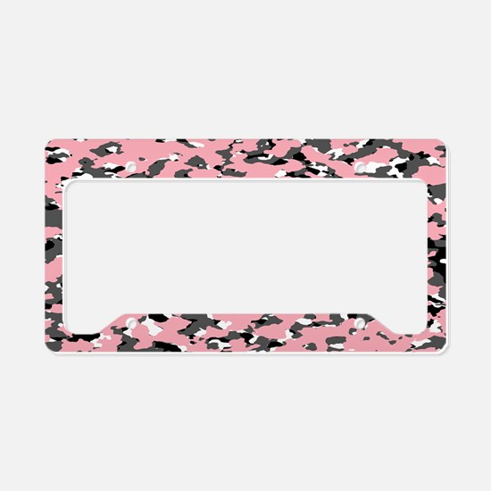 Camouflage: Pink II License Plate Holder