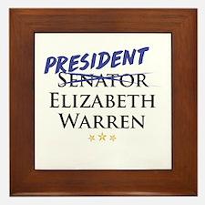 Funny Elizabeth warren Framed Tile